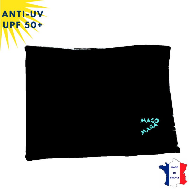 Tour de cou hiver anti-UV Noir - A partir de 9 ans - UPF50+