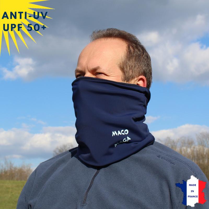 Tour de cou hiver anti-UV Bleu marine - A partir de 9 ans - UPF50+