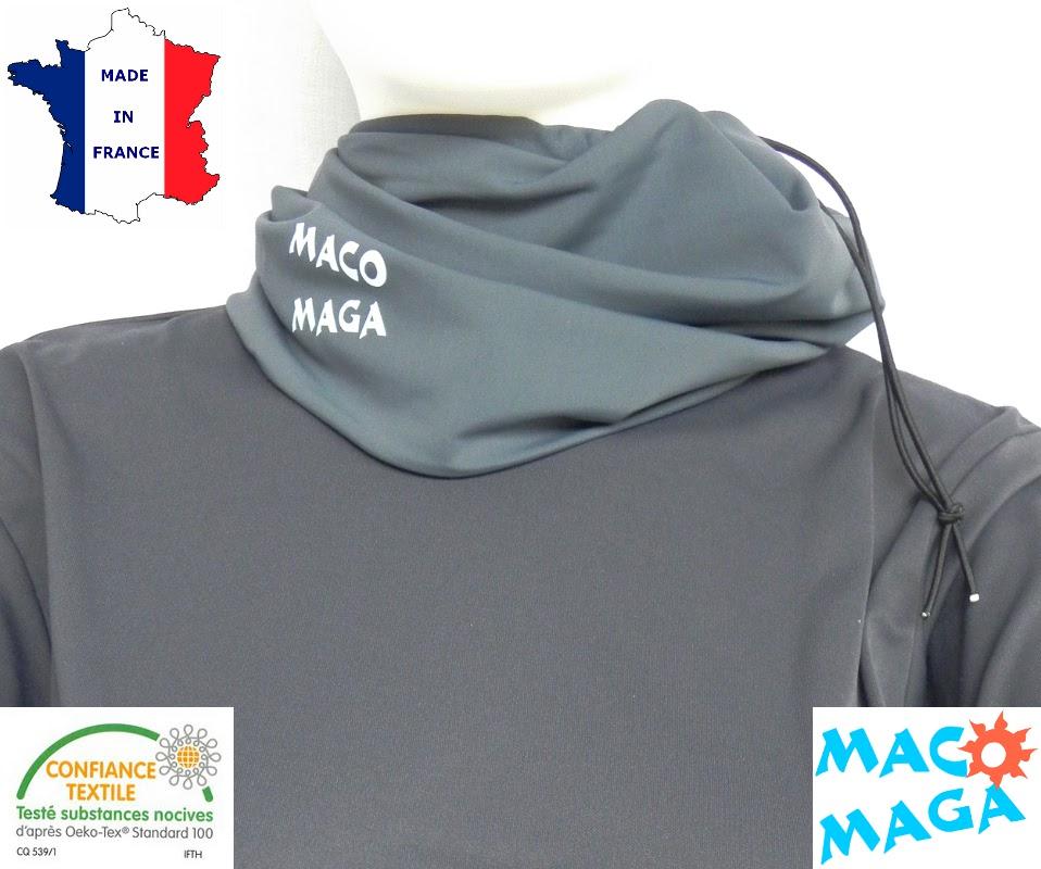Tour de cou anti-uv femme homme enfant MACO MAGA
