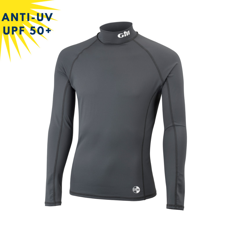 Top lycra anti-uv homme GILL Graphite UPF50+