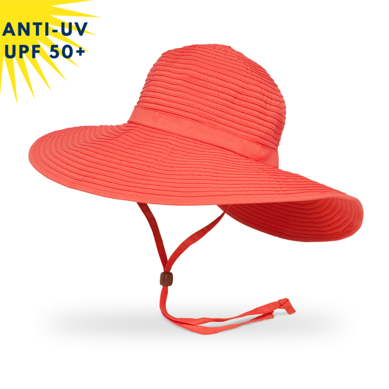 Chapeau anti-uv Femme BEACH HAT - Pamplemousse | UPF50+