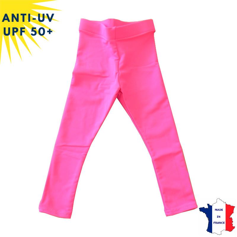 Legging anti-uv Enfant - Fuschia | UPF50+