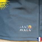 T-shirt anti-uv homme manches longues col zippé maco maga vetement anti-uv