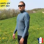 T-shirt-de bain-anti-UV-top-anti-uv-tee-shirt-anti-uv-noir-homme-vêtement-anti-UV-homme