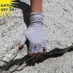 Mitaines anti-uv sans doigt femme homme enfant glacier glove vetement anti-uv