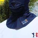 cagoule-anti-uv-avec-ouverture-macomaga-marine-upf50+-vêtement-anti-UV-homme-femme-enfant