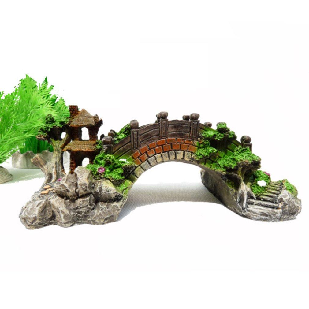 Pont-decoration-aquarium-Pont-aquarium-Décoration-pont-aquarium