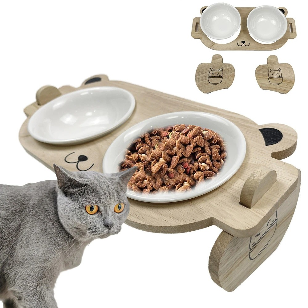 Gamelle-surelevee-chat-Gamelle-inclinee-chat-Gamelle-orthopedique-pour-chat-Double-gamelle-chat