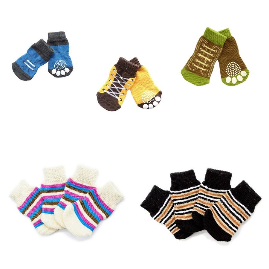 Chaussette-protection-chien-Chaussettes-pour-chien-Chaussettes-antiderapantes-chien-Chausson-antiderapant-pour-chien