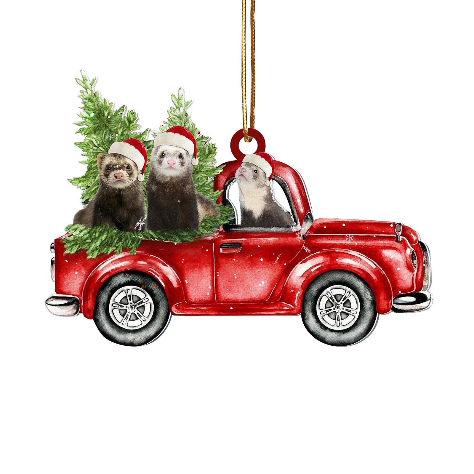 Furet en pick up de Noël