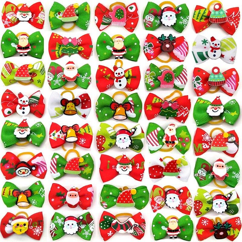 Lot de 10 noeuds papillon Noël