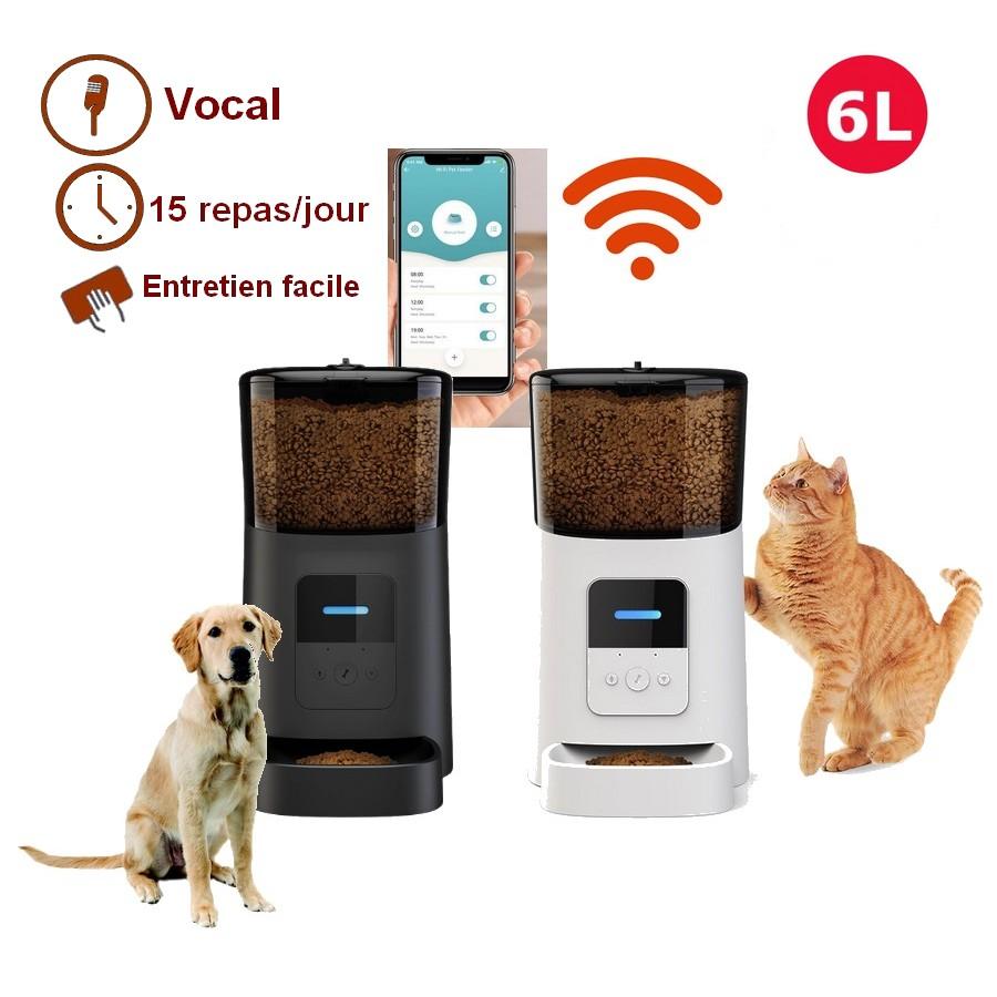 Distributeur de croquettes Wifi 6L