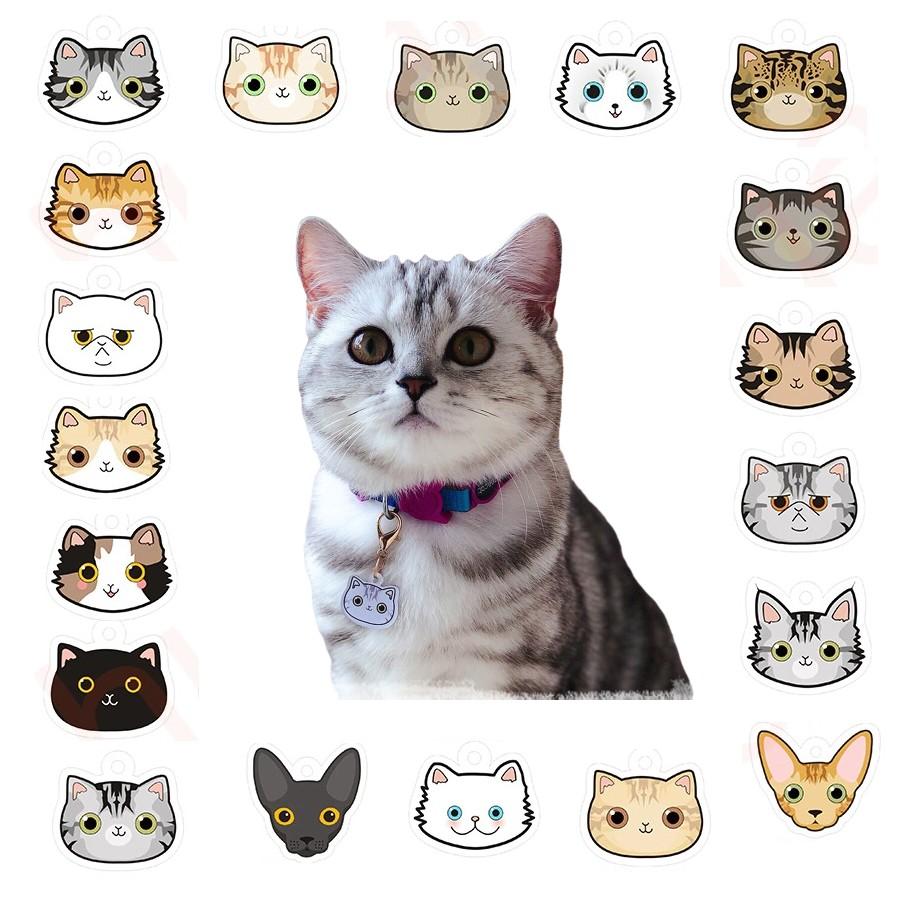 Médaille gravée tête de chat