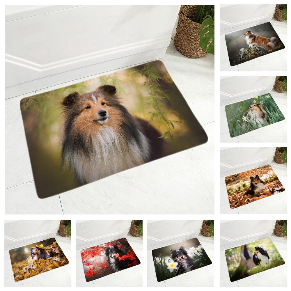 Tapis-de-sol-chien-Race-chien-paillasson-Tapis-d-interieur-chien-Tapis-imprime-chien-Tapis-shetland-Tapis-sheltie