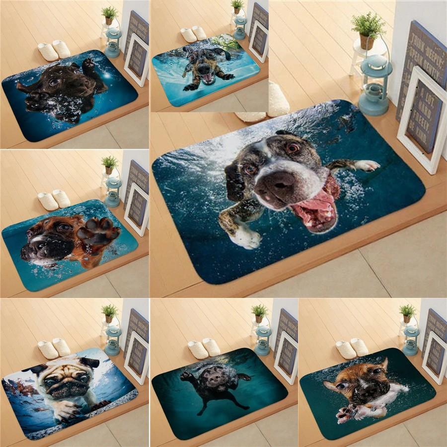Tapis de bain motif chien