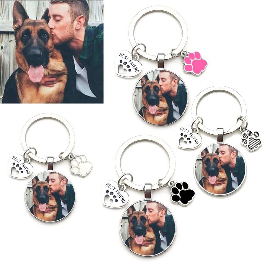 Porte-clés photo chien