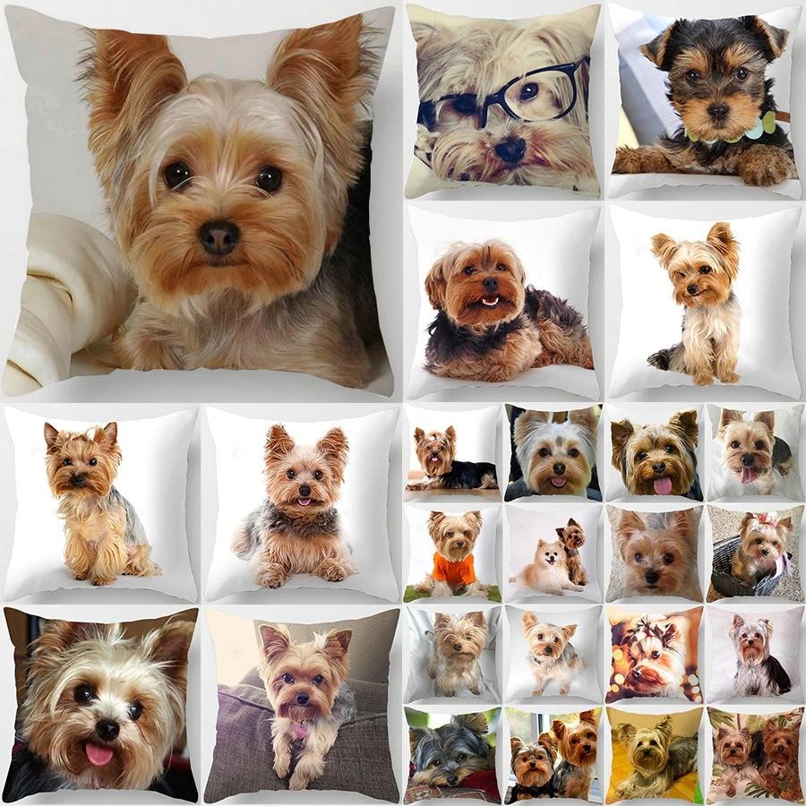 Coussin-chien-Housse-coussin-chien-Coussin-yorkshire-Coussin-york-Coussin-motif-chien