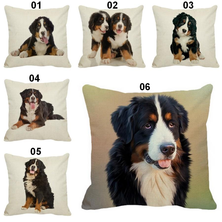 Coussin-chien-Housse-coussin-chien-Coussin-bouvier-bernois-Coussin-motif-chien