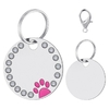 Medaille-gravee-chat-Medaille-personnalisee-chien-Medaille-strass-chat-Medaille-patte