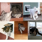 Chatiere-4-positions-Chatiere-pour-chien-Chatiere-manuelle-Chatiere-magnetique