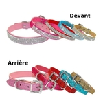 Collier-scintillant-strass-Collier-reglable-chien-chiot-chat-Collier-bling-bling-animaux-compagnie