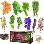 Decoration-terrarium-plante-Cachette-reptile-plante-Cachette-pour-reptile-Decoration-terrarium-serpent-Plante-artificielle-terrarium