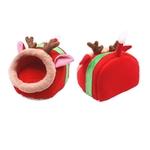 Cadeau-noel-pour-rongeur-Couchage-noel-pour-rongeur-Lit-pour-rongeur-Cadeau-rongeur-Idee-cadeau-lapin-Cadeau-cochon-d-inde