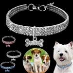 Collier-en-cristal-brillant-pour-chiens-Diamants-chiot-animal-de-compagnie-strass-Collier-strass-chien-Collier-bling-bling-Collier-glamour-pour-chien-Collier-stylé
