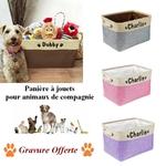 Boite-rangement-personnalisee-Panier-jouets-chien-Coffre-a-jouets-chat-Rangement-personnalisee-animaux-Cadeau-personnalise-insolite