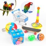 Set-jeux-pour-oiseaux-Ensemble-jeux-pour-oiseau-Jouet-intelligence-pour-oiseau-Caddie-pour-oiseau-Skateboard-pour-oiseau