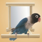 Miroir-oiseau-cage-Perchoir-miroir-oiseau-Perchoir-oiseau-bois-Miroir-perchoir-pour-cage