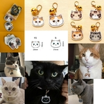 Medaille-gravee-pour-chat-Medaille-personnalisee-chat-Medaille-tete-chat-Medaille-pour-chat