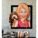 Caricature-personnalisee-Photo-en-caricature-Tableau-caricature-photo-Peinture-personnalisee-caricature-Caricature-photo-personnalise-chien