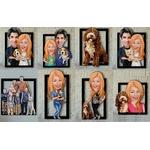 Caricature-personnalisee-Photo-en-caricature-Tableau-caricature-photo-Peinture-personnalisee-caricature-Caricature-photo-personnalise-famille
