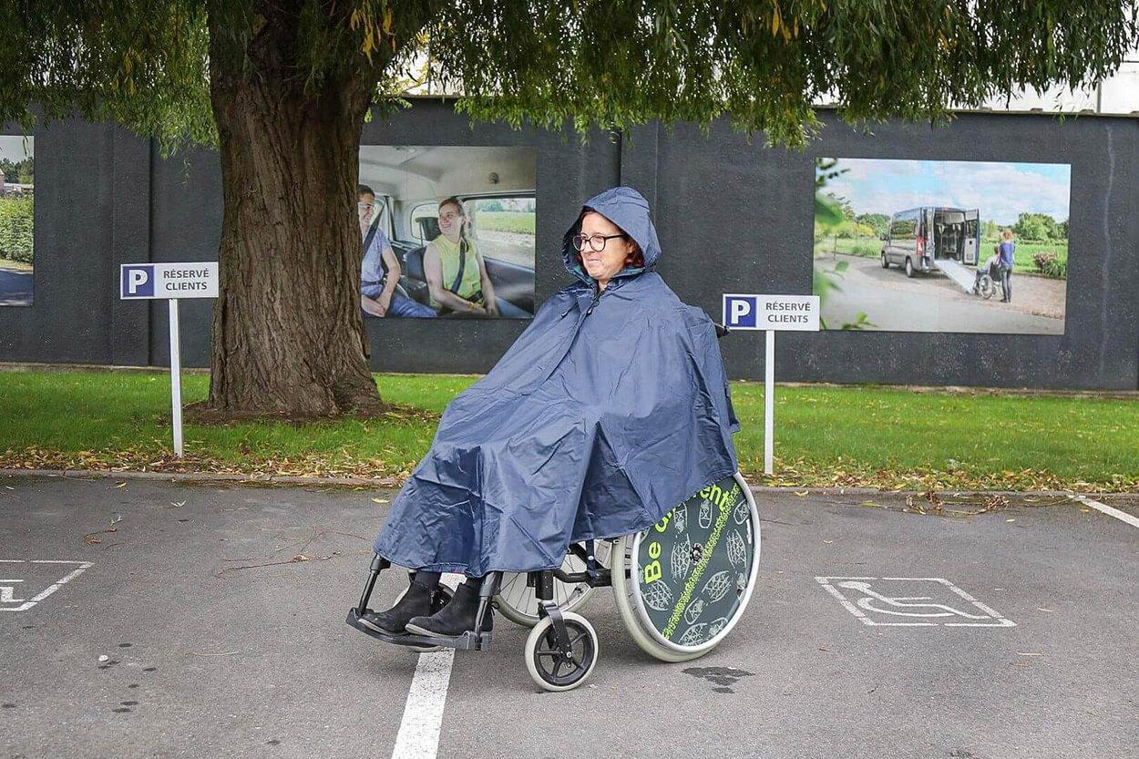 Poncho Plus doublé pour fauteuil roulant