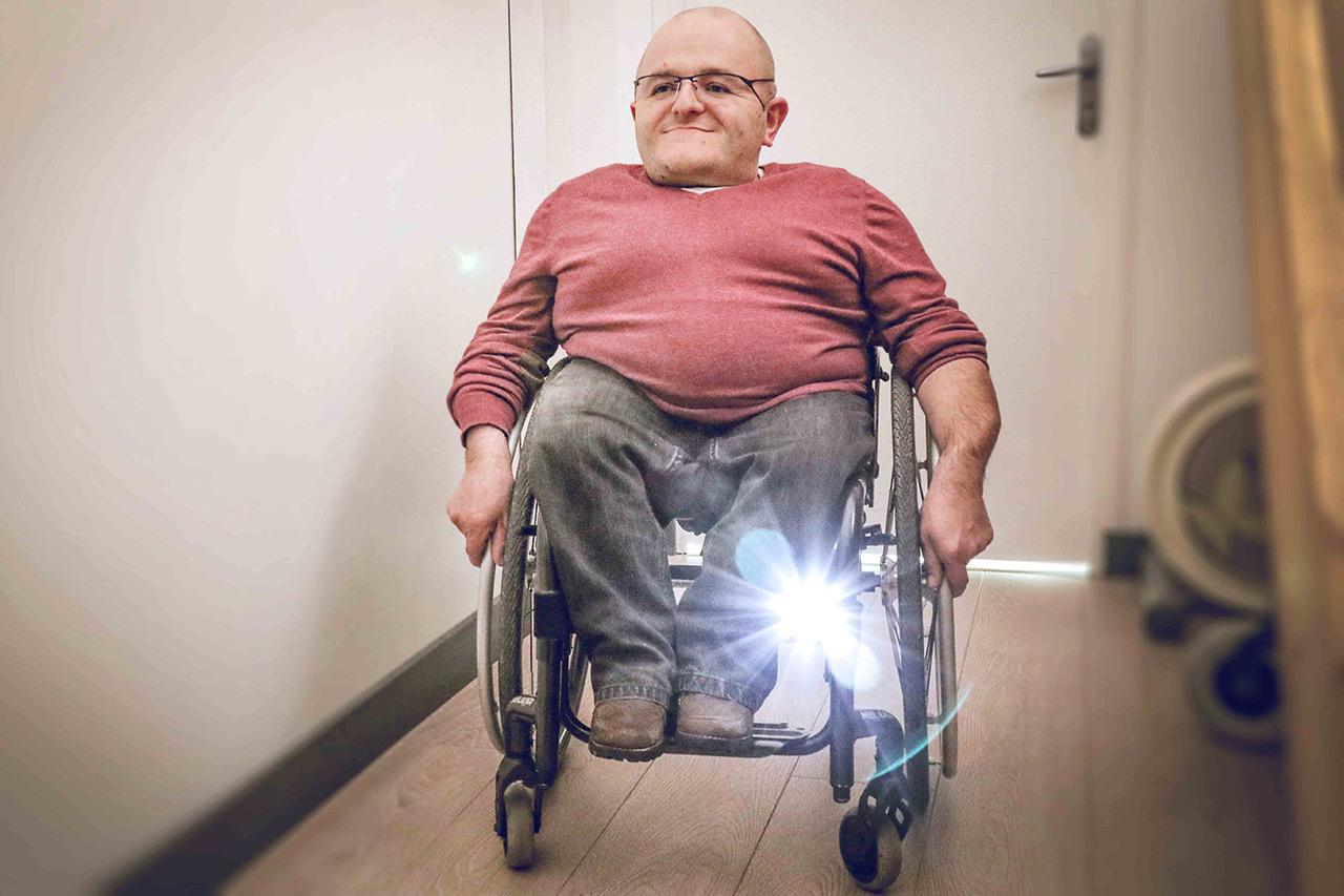 Kit éclairage LED pour fauteuil roulant