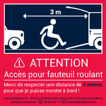 Autocollant attention fauteuil roulant grande taille