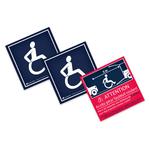 Pack autocollants accès handicap