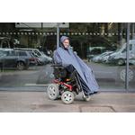 Poncho imperméable éco pour fauteuil roulant