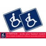 Pack autocollants sécurité handicap