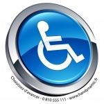 Autocollant avec pictogramme handicap design