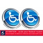 Pack autocollants sécurité handicap design