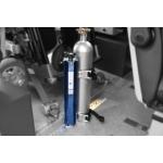 Support bouteille d'oxygène fixation sur rails