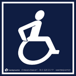 Autocollant avec pictogramme handicap
