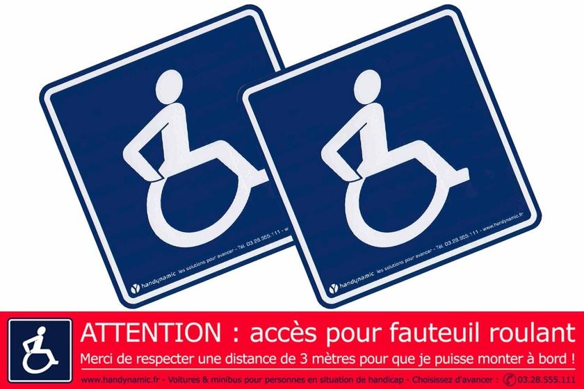 Pack autocollants s curit handicap pour voiture personne for Rideau pour ne pas etre vu de l exterieur