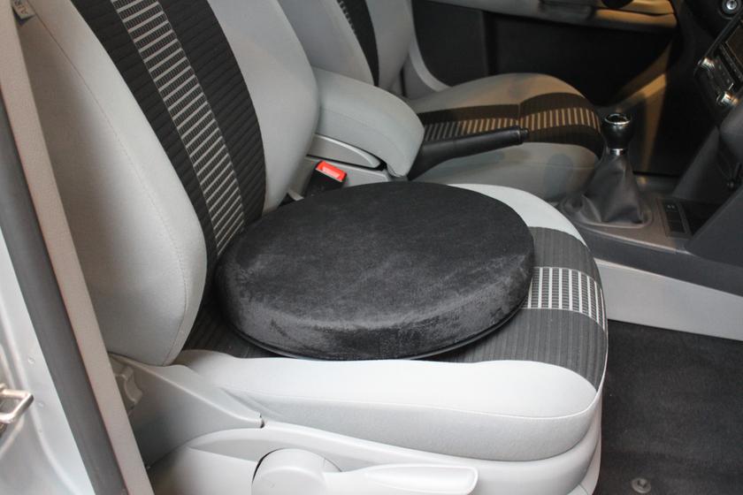 coussin pivotant pour aider les transferts en voiture pour le conducteur ou les passagers. Black Bedroom Furniture Sets. Home Design Ideas