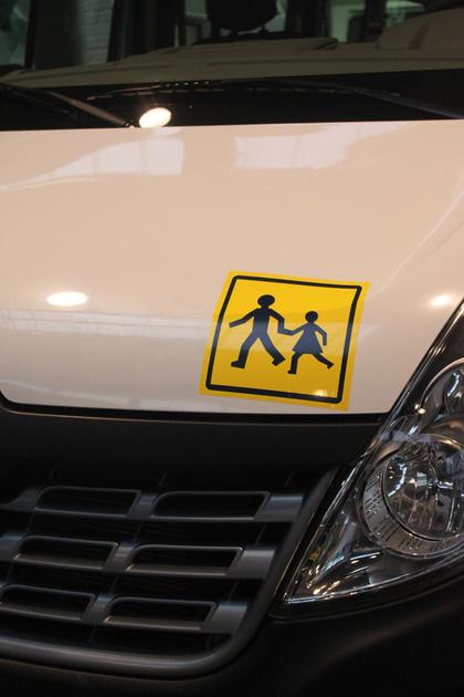 Autocollant transport scolaire vynil pour v hicule - Comment enlever un autocollant ...
