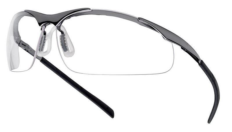 lunettes de s curit boll contour metal incolore. Black Bedroom Furniture Sets. Home Design Ideas