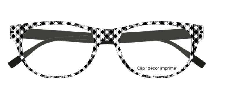 469b3a93e60c35 Clips Face   Cie - CIE 11 Vichy Blanc - Lunettes Zenka Clips Face   Cie -  Acheter-Lunettes.com