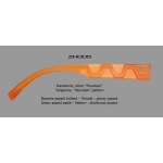 "Branches Dilem ""ZH"" Aspect Brillant  ZH005 - Mandarine"